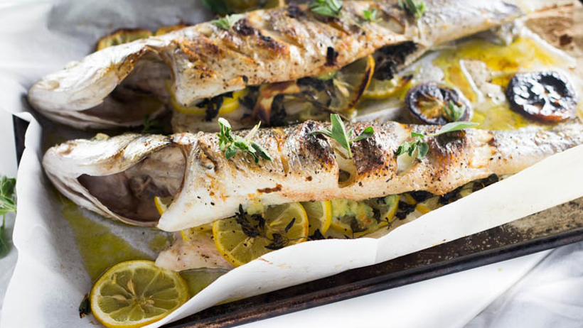 Greek Whole Roasted Branzino photo