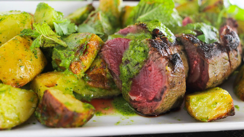 Roasted Lamb Loin with Mint Chimichurri photo 1x