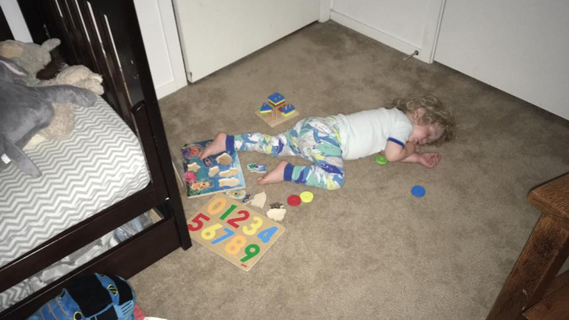 Toddler Tries a Bed 2