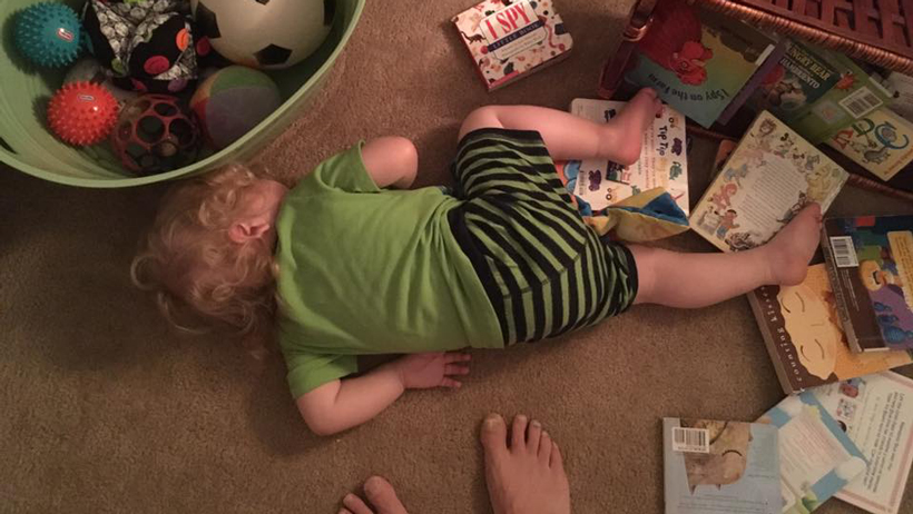 Toddler Tries a Bed 3D