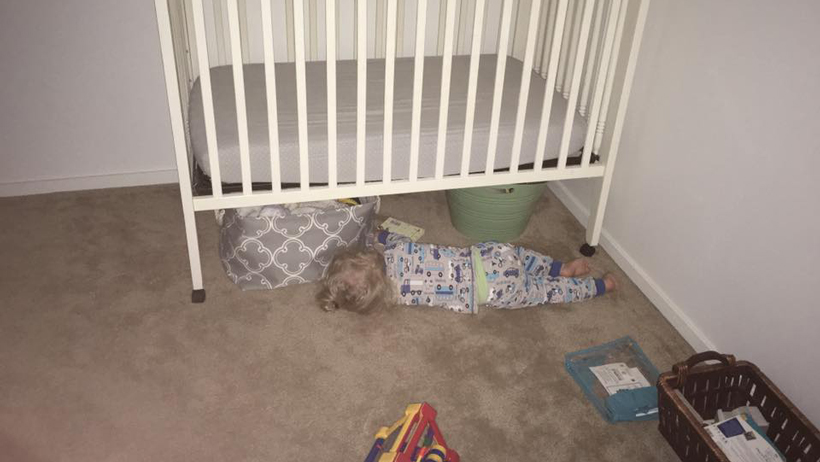 Toddler Tries a Bed 6C
