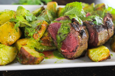 Roasted Lamb Loin with Mint Chimichurri photo 2