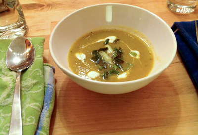 Chayote Soup with Spiced Pepitas photo 1
