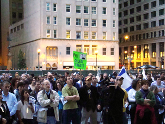 Chicagoans light the night for Gilad Shalit photo